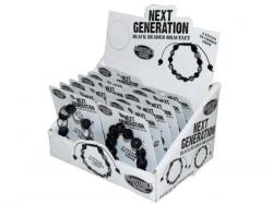 Wholesale Next Generation Black Bead Bracelet In Countertop Display