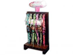 Wholesale Colorful Wood Bracelets With Woven Band In Countertop Display