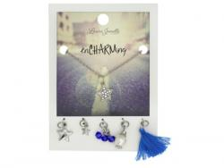 Wholesale Silver Star Charm Necklace With Multiple Charms