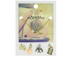 Wholesale Gold Bird Charm Necklace With Multiple Charms