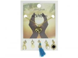 Wholesale Elephant Charm Necklace With Multiple Charms